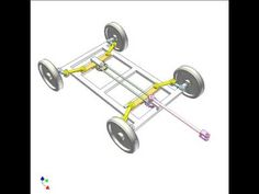 Mechanism for steering a 4-wheel trailer with small turning radius 4 - YouTube
