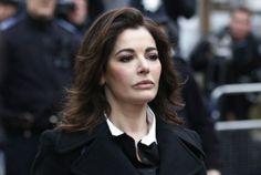 British chef Nigella Lawson at a London court last December. The U.S. Embassy in London said Lawson was denied permission to board a flight ...