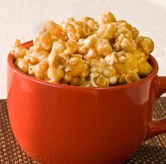 Soft Carmel Popcorn for a snow day.