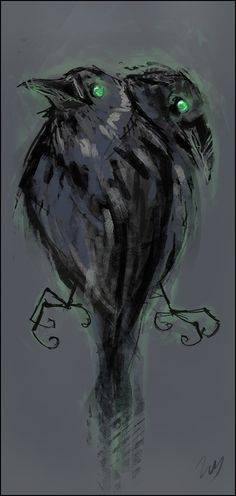 Odin's ravens - Huginn and Muninn. Translated as Thought and Memory. #Arts Design