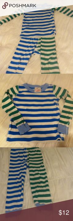 Kids Organic Cotton Hanna Andersson Pajamas Adorable striped pjs in organic cotton. In great condition. Hanna Andersson Intimates & Sleepwear Pajamas