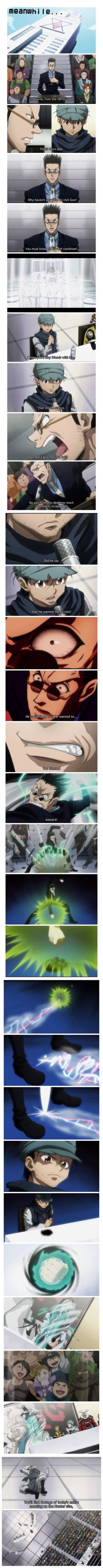 Leorio's back! And kicks Ging's ass!