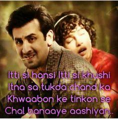 Barfi! Song Lyric Quotes, Love Songs Lyrics, Music Lyrics, Movie Quotes, Bollywood Movie Songs, Bollywood Quotes, Like This Song, I Love Music, Filmy Quotes