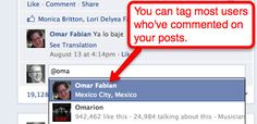 How tagging works for a facebook page