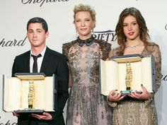 Cannes 2014: Logan Lerman, Cate Blanchett y Adele Exarchopoulos (© Rex Features)