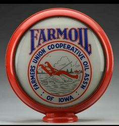 FarmOil - Farmers Union Cooperative Oil Assn of Iowa gas pump globe