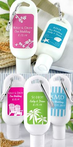 Personalized Silhouette Design Sunscreen Favors from Wedding Favors Unlimited