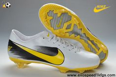 Wholesale Discount White Yellow Black Nike Mercurial Vapor X TF Soccer Shoes Shop