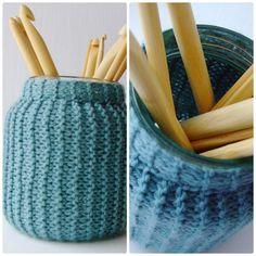 Skagerak: DIY Knitting Pattern - Knitting for Beginners - Glass covered with garter