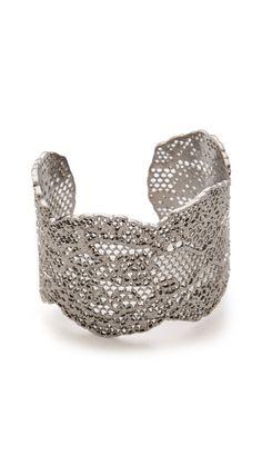 Aurelie Bidermann Vintage Lace Cuff/cast lace jewelry Oscar de la Renta inspired