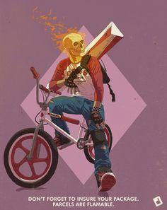 ArtStation - Ghost Rider Bike Courier, David Duke