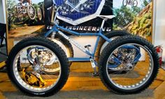 Oregon Handmade Show 2013: Contes Engineerings Fat Bike Pedal Quad, the Athos #fatbike #bicycle