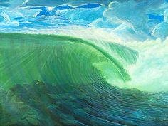 Showcase of surf art by Californian surf artist Llewellyn Ludlow on Club Of The Waves Ocean Art, Ocean Waves, Seascape Art, Wave Art, Surf Art, Surfs Up, Beach Art, Sculpture Art, Cool Art
