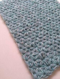 Jasmine stitch (duff link) - how to do Jasmine stitch, free pattern at Ravelry: http://www.ravelry.com/patterns/library/jasmine-stitch-no-3--6-petals-with-puffs-in-rows