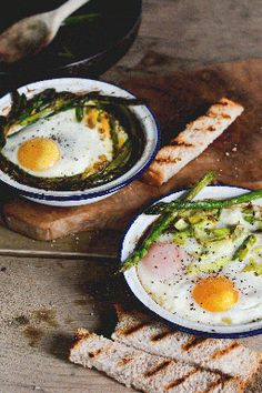 Baked Eggs with Leeks & Asparagus
