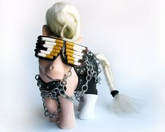 """""""my little lady gaga"""" - part of the 'my little pop icon' series by mari kasurinen - LOVE these"""