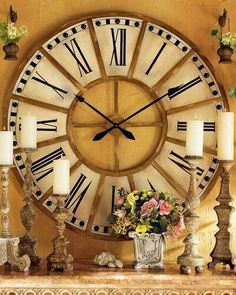 Shop Large Train Station Clock at Horchow, where you'll find new lower shipping on hundreds of home furnishings and gifts. Big Clocks, Large Clock, Huge Wall Clock, Clock Decor, Wall Decor, Wall Art, Globes Terrestres, Train Station Clock, Oversized Clocks
