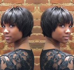 50 Most Captivating African American Short Hairstyles - Afro Hair Short Cropped Hair, Short Hair Cuts, Short Hair Styles, Short Bobs With Bangs, Very Short Bob Hairstyles, Afro Hairstyles, Layered Hairstyles, Bob Haircuts, Black Hairstyles