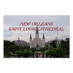 St. Louis Cathedral and Jackson Square Poster