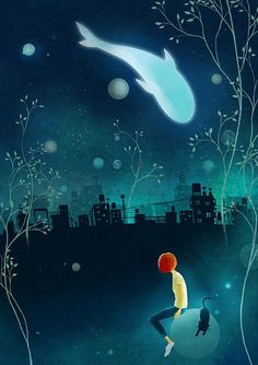 Illustrated imaginarium - 《微光世界》, a quite sad (but beautiful!) story by Xiao...