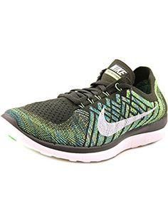 Nike Men's Free 4.0 Flyknit, SEQUOIA/SUMMIT WHITE-ELECTRIC GREEN, 11.5 M US ❤ NIKE