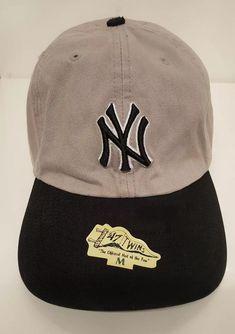 1ab02fbc774d23 New York Yankees Size Medium Official Fitted Hat MLB Baseball Cap Gray Ball  Fan #47 #BostonRedSox