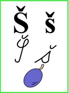 ABECEDA PÍSMENO Š Alphabet, Arabic Calligraphy, Education, School, Google, Rain Fall, Alpha Bet, Arabic Calligraphy Art, Onderwijs