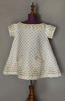 1830s child's cotton dress
