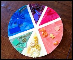 Kids art colour pie from @QuirkyMommaSite