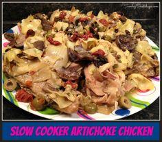 Slow cooker artichoke chicken -- EASY fancy in the Crock Pot! :)