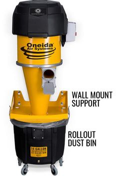 Supercell High-Pressure 14 Gallon HEPA Cyclone Dust Collector | Oneida Air Systems