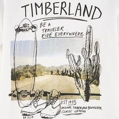 Timberland - T-shirt illustré en coton bio - 227603 art t-shirt Shirt Print Design, Tee Shirt Designs, Hang Ten, Design Creation, Print Layout, Coton Bio, Boys T Shirts, Graphic Design Illustration, Surfing