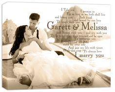 Amazing customized Canvas Art from Geezees.com- perfect for Mother's Day, anniversaries, graduation, or a wedding gift!