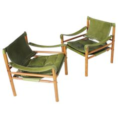 Pair of 'Scirocco' Safari Chairs by Arne Norell   From a unique collection of antique and modern armchairs at https://www.1stdibs.com/furniture/seating/armchairs/