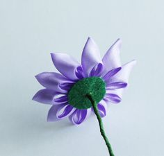12 pieces Kanzashi flowers with stem for DIY by MeanwhileCraft