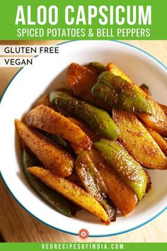 Shimla Mirch ki Sabji Recipe with stepwise photos. Capsicum Recipes, Green Pepper Recipes, Garlic Recipes, Vegetable Recipes, Potato Recipes, Veg Recipes Of India, North Indian Recipes, Indian Food Recipes, Gourmet