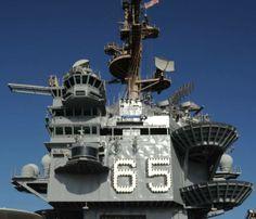 USS Enterprise CVN-65 superstructure island Us Navy Aircraft, Navy Aircraft Carrier, American Aircraft Carriers, Naval Station Norfolk, Uss Enterprise Cvn 65, Navy Carriers, Navy Day, World Cruise, Capital Ship