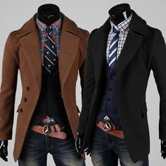 Men Fashion Jacket Male Black Trench Coat Pricemale Black Trench Coat Price Trends Xoqzmsk