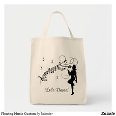 Flowing Music Custom Tote Bag Dance All Day, Custom Tote Bags, Dance Photos, Design Your Own, Cotton Canvas, Reusable Tote Bags, Music, Gifts, Accessories