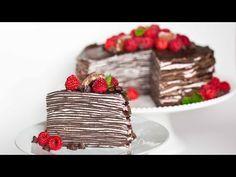 Chocolate Crepe Cake with Raspberries - Tatyanas Everyday Food