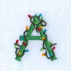Christmas Lights Alphabet Set - Mini | What's New | Machine Embroidery Designs | SWAKembroidery.com Starbird Stock Designs