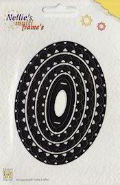 (blad-6) Nellie Snellen - Die - Nellie`s Multi Frame`s - Ovaal MFD007