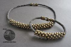 LINO bracelet  necklace #freetutorial #kumihimo #steptostep #bracelet #necklace #pulsera #collar #tutorial #DIY