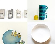 ♥♥♥♥♥♥ by Karina Cabrera on Etsy featuring concrete jewelry - geometric minimalist concrete ring by shooohsJewelry