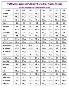Industry Grade Large Women Plus Size Full Body Dress Form Womens Size Chart, Dress Size Chart Women, Baby Size Chart, Body Measurement Chart, Pattern Grading, Large Women, Dress Sewing Patterns, Body Size, Dress Form