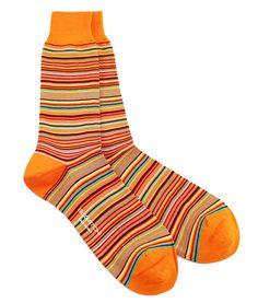 Bugatchi Tangerine Trees Dress Socks Men's fashion - men's style