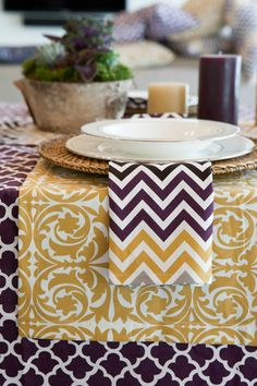 Play with Patterns and you'll have some exciting tabletops!