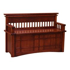 This well-built hope chest with back is skillfully constructed by highly experienced Craftsmen with hand selected solid cherry wood. The notable spindle designs and detail on the unit is typical influence from the Arts and Crafts movement. Not only that this chest has an elegant look, a person can sit on top of this sturdy hope chest. This is a great way to store toys, blankets, clothes and other items to keep the room clutter free.   This piece can be available in different size, wood and…
