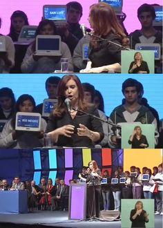 Cristina, Cristina, Cristina corazón! Acá tenés los pibes para la escenografía!!! #Tecnópolis2012