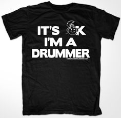 Gifts for drummers Look cool at school or anywhere you want people to know you are a drummer! Kids drum shirt $15.00